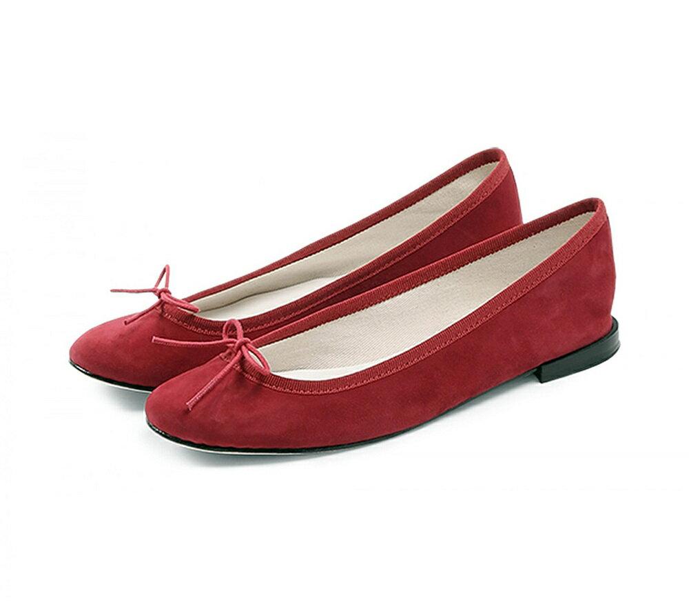 【正規取扱店】repetto Ballerina Cendrillon Suede Red (レペット) (サンドリオン レペット)