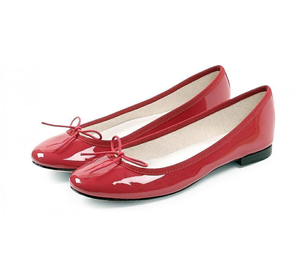 【正規取扱店】repetto Ballerina Cendrillon Patent Red (レペット) (サンドリオン レペット)