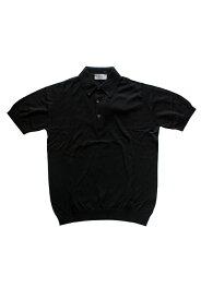 【正規取扱店】JOHN SMEDLEY 18S/S S3798 コットンニットポロシャツ BLACK (ジョンスメドレー)