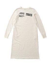 beautiful people ビューティフルピープル 19-20A/W スビンピマジャージ—ナンバーロングTシャツドレス navy/off white