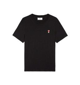 【正規取扱店】AMI Alexandre Mattiussi AMI DE COEUR Tシャツ BLACK (アミ アレクサンドル マテュッシ)