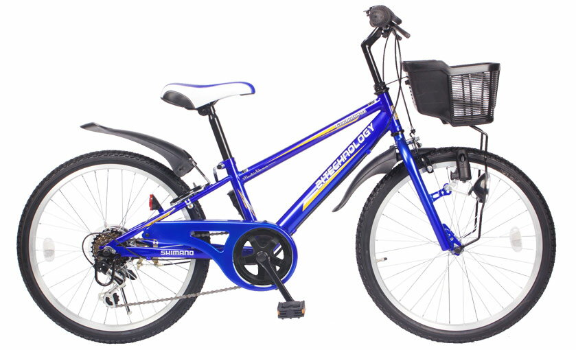 【送料無料】21Technology 21テクノロジー KD226 22インチ 子供用マウンテンバイク ブルー 自転車本体 21テクノロジー 【代引不可】