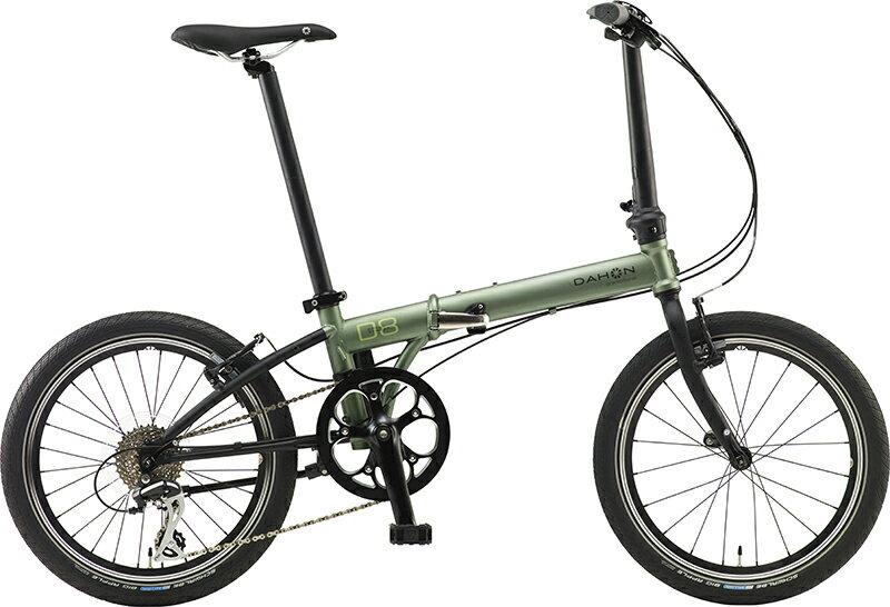 【送料無料】DAHON ダホン Speed D8 Street スピード ストリート カーキ 20インチ 折りたたみ自転車 2018年モデル【自転車本体】