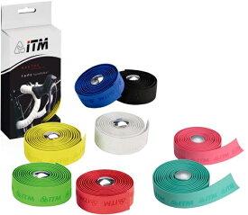 ITM コルク バーテープ レッド 自転車用品 サイクルアクセサリー ロードバーテープ