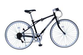 365/ミムゴ クロスバイク CHEVROLET/シボレー FD-CRB700C6SG ブラック 700C 折りたたみ自転車(MG-CV7006G)