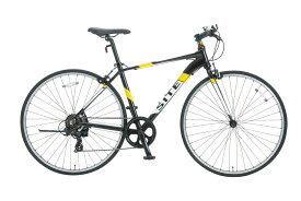 SHIONO/塩野自転車 700XZ-K01 SITE AL/サイトAL 700C クロスバイク ピアノブラック(7804) アルミスポーツバイク 自転車本体