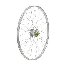 敷島 前輪 26 × 1 3/8 ハブダイナモ アルミリム シマノ2端子 26インチ ホイール 車輪 自転車