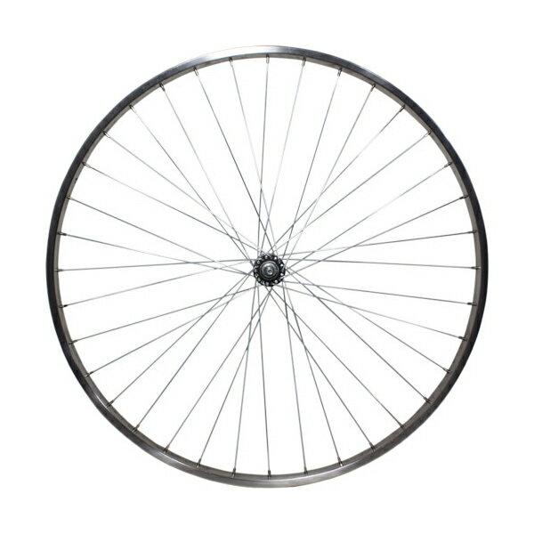 敷島 前輪 24 × 1 3/8 ホイール ステンレスリム 24インチ フロント 車輪 自転車