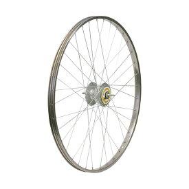敷島 前輪 26 × 1 3/8 ハブダイナモ ステンレスリム シマノ2端子 26インチ ホイール 車輪 自転車