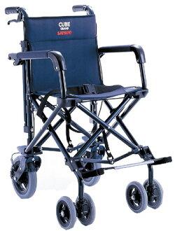 供轻量折叠旅行使用的轮椅(供旅行使用的轮椅)雷曼株式会社制造CUBE630
