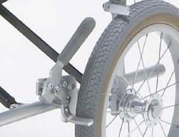 車椅子専用オプション(日進医療器専用)(NAH-L7・L7W用)アルミタックル駐車ブレーキ