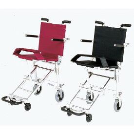 軽量 折りたたみ 旅行用車椅子(旅行用車いす) 日進医療器製 NAH-207【メーカー正規保証付き/条件付き送料無料】