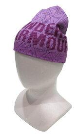 【レディースモデル55cm-57cm】アンダーアーマー ビーニー ニットキャップ パープル 帽子 UA GIRLS GRAPHIC UNDER ARMOUR AAL3850-VVV