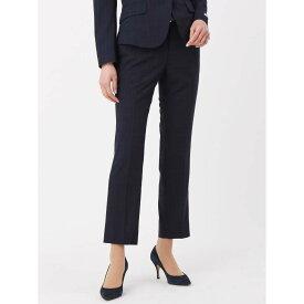 【特別価格】スーツ/パンツ/レディース/セットアップ/春夏/ウォッシャブル・COOL MAX/ウインドーペーン柄テーパードパンツ ネイビー×ブラック×サックスブルー/ザ・スーツカンパニー