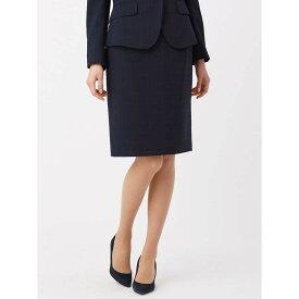 【特別価格】スーツ/スカート/レディース/セットアップ/春夏/ウォッシャブル・COOL MAX/ウインドーペーン柄タイトスカート ネイビー×ブラック×サックスブルー/ザ・スーツカンパニー