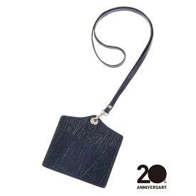 【スーパーSALE】革小物/キーリング/グッズ/メンズ/20周年記念アイテム/IDケース/Leather by ANNONAY/ ネイビー/ザ・スーツカンパニー