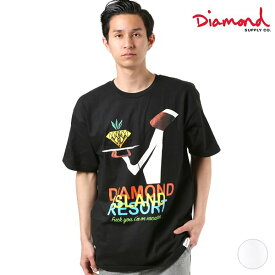 送料無料 メンズ 半袖 Tシャツ Diamond Supply Co. ダイヤモンド サプライ A19DMPA001 DESI DIAMOND RESORT TEE GG1 D12
