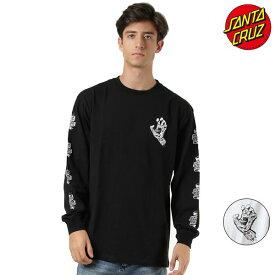 メンズ 長袖 Tシャツ SANTA CRUZ サンタクルーズ 50293407 TATTO HAND L/S-T ムラサキスポーツ限定 GG3 I19 MM