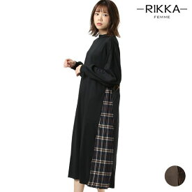 レディース ワンピース RIKKA FEMME リッカファム R19W1120 プリーツ アシンメトリー 秋 GG3 J1