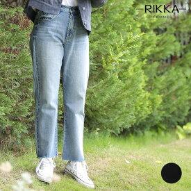 レディース ロングパンツ RIKKA FEMME リッカファム R19W1126 デニム ワイドパンツ 9分丈 GG3 J1