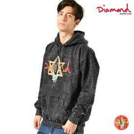 メンズ パーカー Diamond Supply Co. ダイヤモンド サプライ D19DMPF017 STAR OF DAVID HOODY MINERAL WASH GG4 L24
