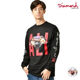 メンズ 長袖 Tシャツ Diamond Supply Co. ダイヤモンド サプライ D19DMPC403S DMND X MUHAMMAD ALI ALI SIGN L/S TEE GG4 L24