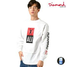 メンズ 長袖 Tシャツ Diamond Supply Co. ダイヤモンド サプライ D19DMPC405S DMND X MUHAMMAD ALI FIGHT L/S TEE GG4 L24