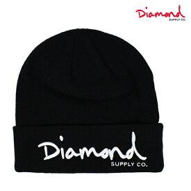 ビーニー Diamond Supply Co. ダイヤモンド サプライ Z18DMHF001CR OG SCRIPT BEANIE CORE ニット帽 GGF B1