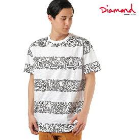 メンズ 半袖 Tシャツ Diamond Supply Co. ダイヤモンド サプライ D19DMTF606S DMND × KEITH HARING STRIPES TEE HH1 B12