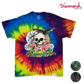 Diamond Supply Co. ダイヤモンド サプライ DESI SKULL AND CROW TIE A20DMPZ013 メンズ 半袖 Tシャツ HH1 E29