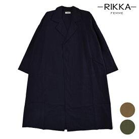 RIKKA FEMME リッカファム RFMS1052 レディース ジャケット ロングテーラードジャケット フロントオープン HH1 G30