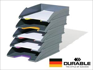 DURABLE VARICOLOR デュラブル バリカラー レタートレー【5個セット】おしゃれ レタートレイ 書類整理 オフィス用品