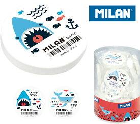 MILAN ミラン 消しゴム PNMD4740−SHARK ATTACK collection−【全2種】おしゃれ かわいい ヨーロッパ 文具 文房具 ケシゴム サメ 鮫