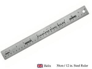 """【マラソン期間全品ポイント10倍♪】HELIX 30cm / 12"""" Steel Rulers ヘリックス スチール製ものさし 30cmおしゃれ イギリス ヨーロッパ 文具 文房具 定規 物差し クラスト 手芸"""