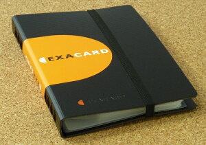 EXACOMPTA エグザコンタ エグザカード 120 名刺 カード 整理 120枚収納 20×14.5×2.7cm エグザクティブおしゃれ 文房具 文具