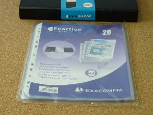 EXACOMPTA エグザコンタ エグザショー 対応 クリアポケット A4 20枚入 エグザクティブおしゃれ 文房具 文具