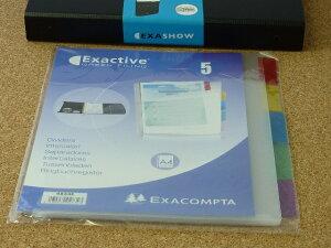 【土日限定♪ポイント10倍】EXACOMPTA エグザコンタ クリアポケット インデックス 5枚入 エグザショー対応おしゃれ 文房具 文具