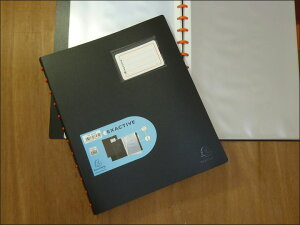 EXACOMPTA エグザコンタ クリアホルダー 40 ファイル A4 40ポケット エグザクティブおしゃれ 文房具 文具