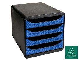 【11/27(金)までポイント5倍★】EXACOMPTA BIG BOX エグザコンタ ビッグボックス レターケース 4段 A4 ジャパンブルー