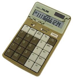 MILAN ミラン 12桁 電卓 1504127 オリーブおしゃれ 文房具 文具 カリキュレーター 雑貨