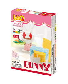 【LaQ Sweet Collection Bunny】 【宅配】 ラキュー 日本製 手作り ブロック 知育 教材 子供 プレゼント クラフト リハビリ 玩具 おもちゃ 知育教材 脳科学 数学 パーツ 女の子 5種類 175ピース 【楽ギフ_包装】