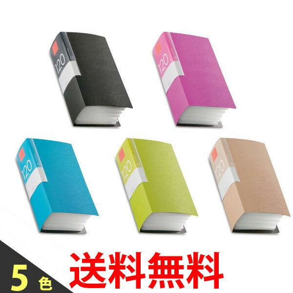 BUFFALO CD&DVDファイルケース ブックタイプ 120枚収納 BSCD01F120 PK BK GR BG BL 送料無料 【SK00220-Q】