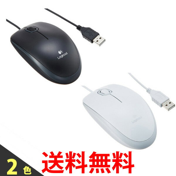 Logicool M100r ロジクール 有線 光学式 3ボタン マウス M100R ブラック ホワイト 送料無料 【SK05217-Q】