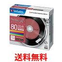 《送料無料》Verbatim MUR80PHS10V1 音楽用 CD-R 80分 1回録音用 「Phono-R」 48倍速 5mmケース 10枚パック レコード...