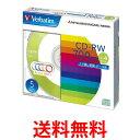 Verbatim SW80QM5V1 CD-RW 700MB くり返し記録用 1-4倍速 5mmケース 5枚パック 5色カラー ミックス 三菱化学メディア 送料...
