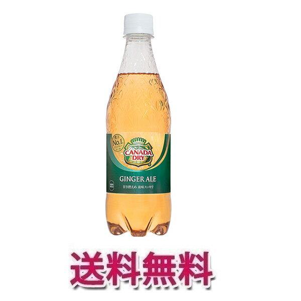 コカ・コーラ社製品 カナダドライジンジャエール 500mlPET 2ケース 48本 炭酸飲料 ペットボトル ※数量は48本単位でご注文下さい 送料無料 【d21-48c2】