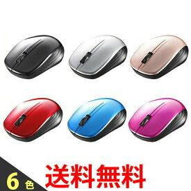 BUFFALO バッファロー 無線(2.4GHz) BlueLEDマウス 3ボタン ワイヤレスマウス 両利き仕様 BSMBW105 送料無料 【SK02043-Q】