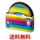 三菱化学メディア Verbatim DVD-R DL 8.5GB データ用 1回記録用 2-8倍速 スピンドルケース 10枚パック ワイド印刷対応 ホワイトレー...