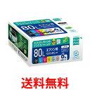 ecorica ECI-E80L-6P エコリカ リサイクルインクカートリッジ 6色セット 互換インク EPSON IC6CL80L対応 ECIE80L 送料…