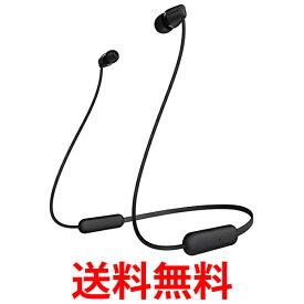 SONY ソニー ワイヤレスイヤホン WI-C200 BC Bluetooth対応/最大15時間連続再生/マイク付き 2019年モデル ブラック 送料無料 【SK09742】